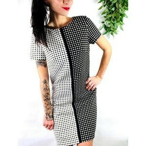 Betsey Johnson Checkered Retro Pinup Sheath Dress